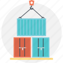 cargo, consignment, containers, freight, shipment icon