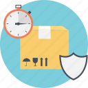delivery duration, fast shipment, on time delivery, quick service, secure delivery icon