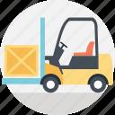 bendi truck, fork truck, forklift truck, industrial transport, pallet jack icon
