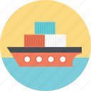 bulk carrier, cargo barge, consignment, freight ship, shipment icon