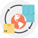 delivery service, international courier service, international parcel delivery, nationwide delivery, shipping and delivery icon