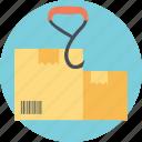 international shipping label, prohibited activity sign, shipping symbol, use no hook, use no hook sign icon