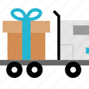 and, delivery, gift, shipping icon