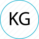 kg, scale, weight icon
