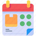 calendars, date, dates, delivery, schedule icon
