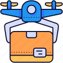 box, delivery, drone, package, product icon