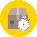 courier, delivery, schedule, shipping, time, transport, transportation icon