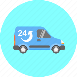 car, courier, delivery, shipping, transport, transportation, vehicle icon