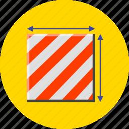 box, dimensions, measure, measurement, meter, scale, size icon