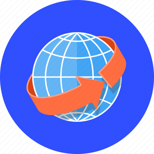 connection, global, globalisation, globe, international, planet, shipment icon