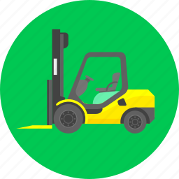 cargo, delivery, loader, loading car, loads, machine, work icon