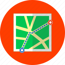 direction, gps, location, map, navigation, pointer, streets icon