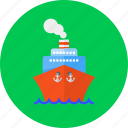 anchor, boat, marine, sea, ship, shipping, transport icon