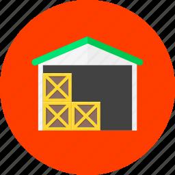 deposit, repository, stock, storage, store, storehouse, warehouse icon