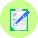 document, goals, list, paper, purpose, shedule, tablet icon