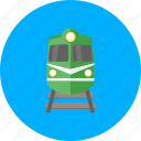 delivery, rail, railroad, railway, train, transport, transportation icon