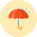 forecast, protect, protection, rain, rainy, umbrella, weather icon