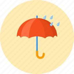 forecast, protect, protection, rain, rainy, umbrella, weather icon