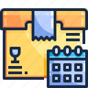 calendar, logistics, package, shopping icon