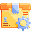 logistics, package, setting, shopping icon