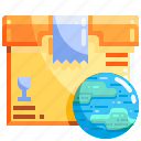 goble, logistics, package, shopping icon