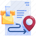 location, logistics, package, shopping icon