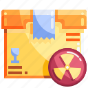 logistics, package, shopping, warning icon