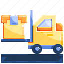 forklift, logistics, package, shopping
