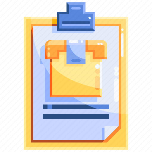 clipboard, logistics, package, shopping icon