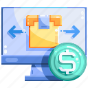 logistics, online, package, shopping icon