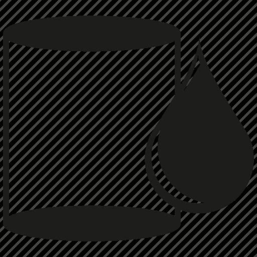 barrel, drop, oil, tank icon