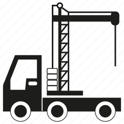 car, crane, transport, truck, vehicle icon
