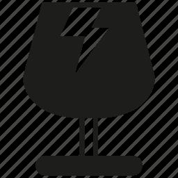 fragile, glassware, warning icon