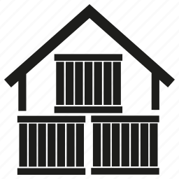 building, cargo, container, roof, storage, warehouse icon