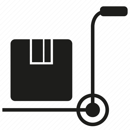 box, cart, load icon