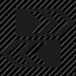 arrow, direction, signage, way icon