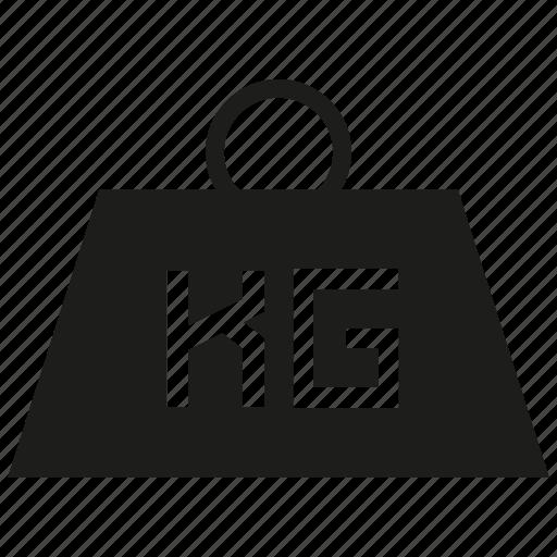 kilogram, loading, weight icon