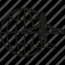 global, globe, plane, transport, world