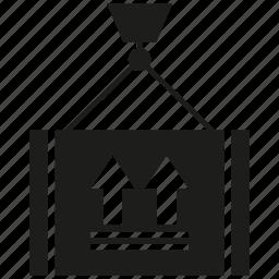 box, crane, hang, loading, weight icon