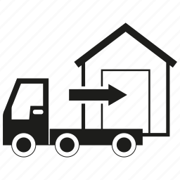 delivery, home, lorry, send, truck, warehouse icon