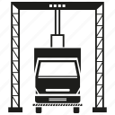 cargo, harbor, delivery, dock, truck, crane, port icon