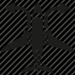 arrow, direction, plane, travel icon