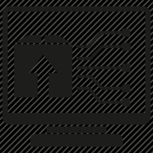 box, computer, desktop icon