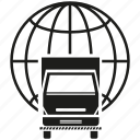 car, global, globe, logistic, lorry, transport, truck