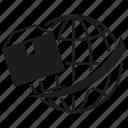 box, glbe, logistics, transport, world, world wide icon