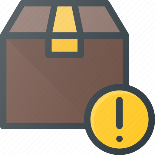 attention, box, delivery, shipping icon