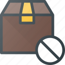 box, cancel, delivery, disable, shipping icon