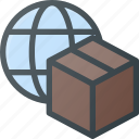 box, delivery, global, globe, shipping, wide, world icon