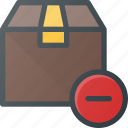 box, cancel, delivery, remove, shipping icon