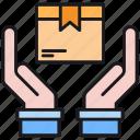 box, careful, gift, hand, logistics